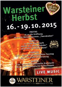 Warsteiner Herbst Plakat
