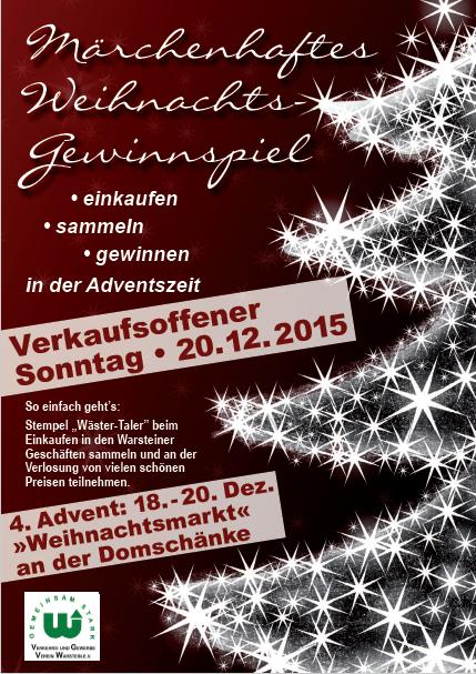 Weihnachtliches Gewinnspiel Poster
